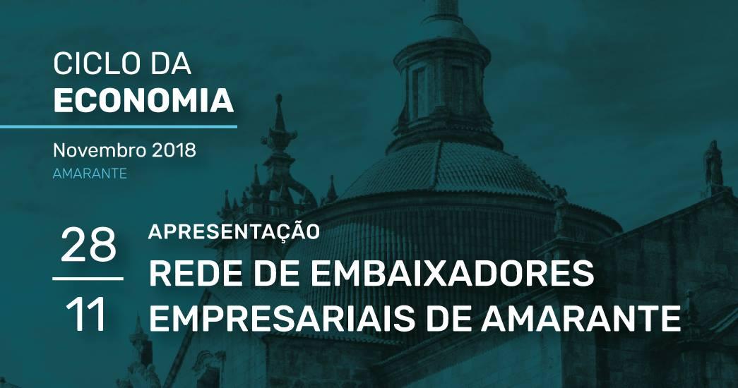 Município de Amarante promove constituição da Rede de Embaixadores Empresariais de Amarante