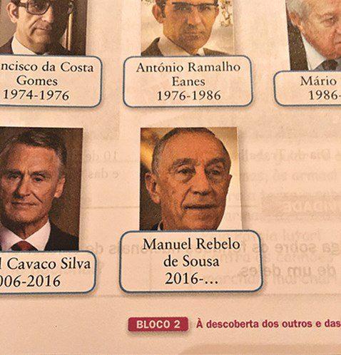 Manual escolar trocou o nome do Presidente da República