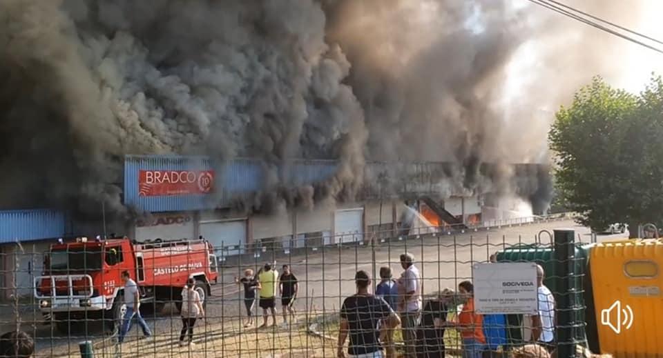 Nova tragédia em Castelo de Paiva. Incêndio destrói seis empresas