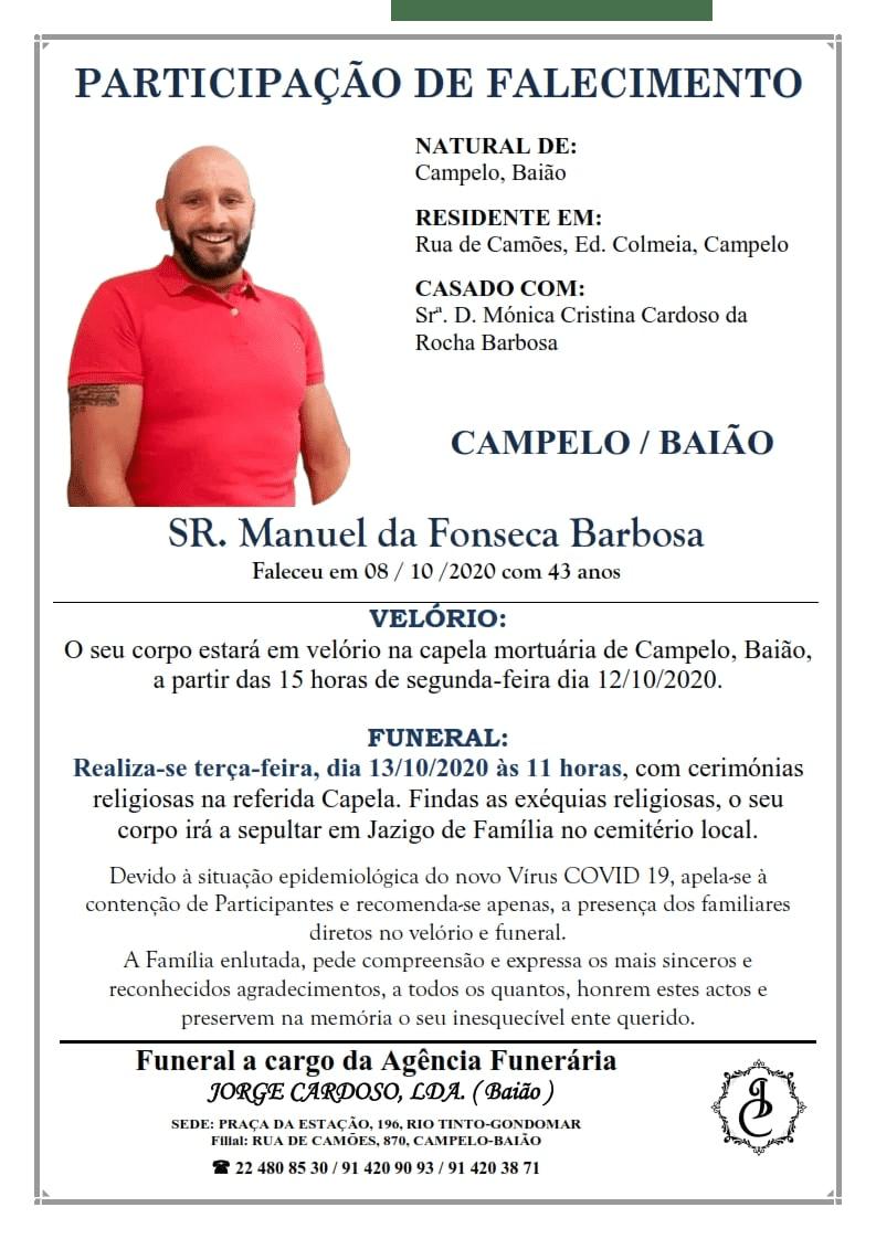 Sr. Manuel da Fonseca Barbosa (1977/2020)