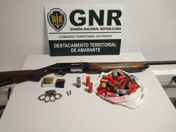GNR apreendeu armas proibidas em Baião