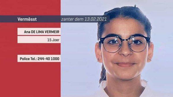 Jovem lusodescendente desaparecida há duas semanas no Luxemburgo