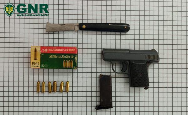 Sexagenário de Amarante alvo de denúncia por violência doméstica foi detido com arma ilegal