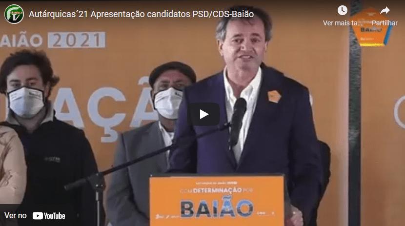 PSD/CDS apresentou candidatos à câmara de Baião