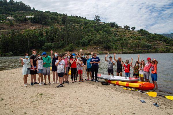 Alunos autistas praticaram canoagem na Ermida