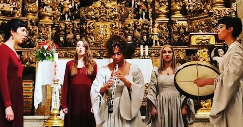 Igreja de São Martinho de Mouros foi palco de concerto de música medieval