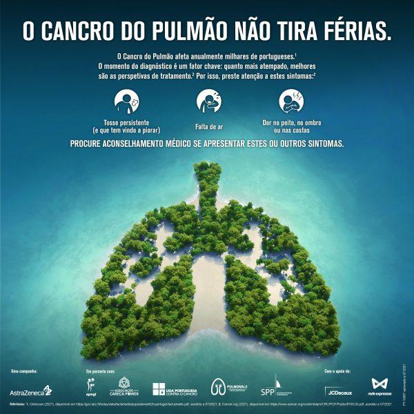 A campanha 'O cancro do pulmão não tira férias' alerta para os sinais e sintomas da doença
