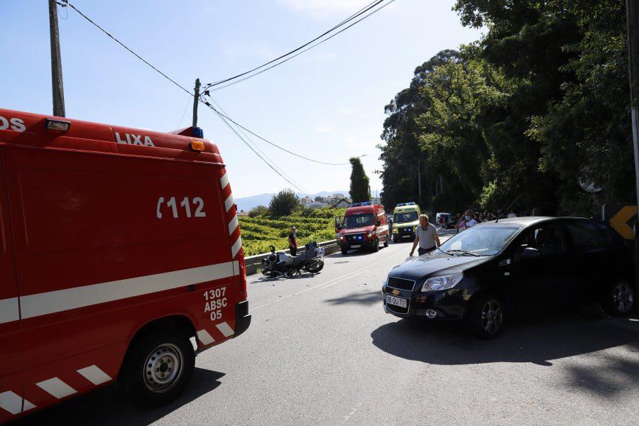 Motard em estado grave após violenta colisão na EN15