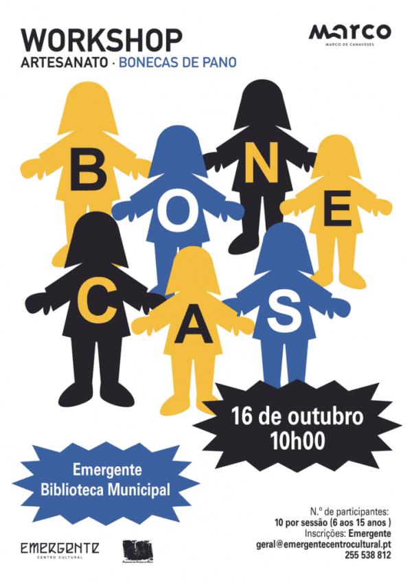 Workshop de Bonecas de Pano irá ser realizado no Marco de Canaveses